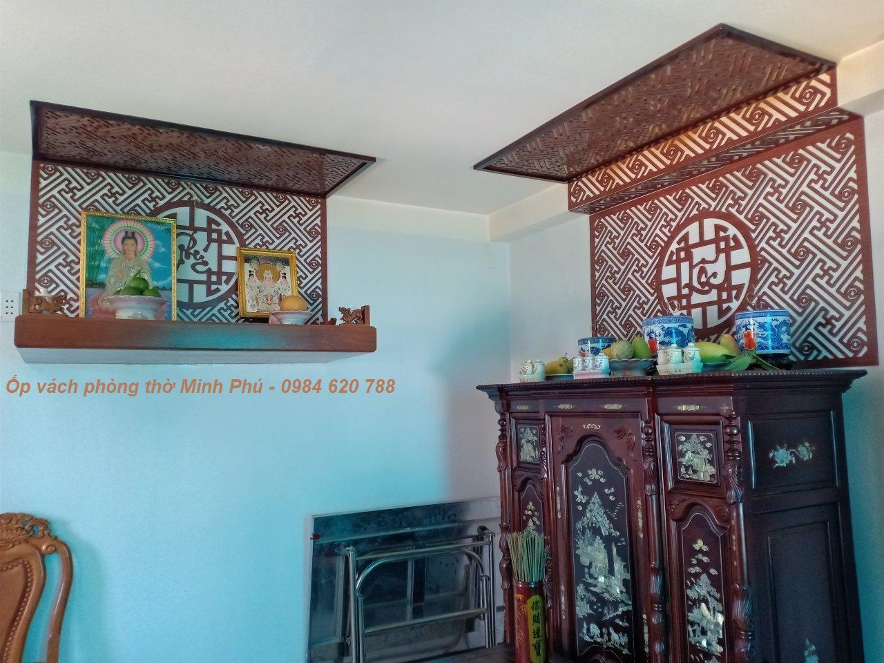 Ốp vách trang trí bàn thờ